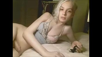 Blond Shemale Cutiepie Plugging her Asshole