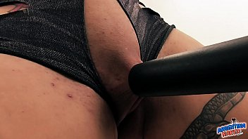 Vacuum clitoris Hot extreme babe vacuums her clitoris pussy tits and asshole.