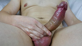 Big Juicy Cock Overexcited Masturbation In An Erection Ring And Massage Oil, Orgasm Cum