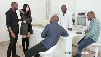 Private Black - Teen Lady Dee Does Interracial Gangbang!