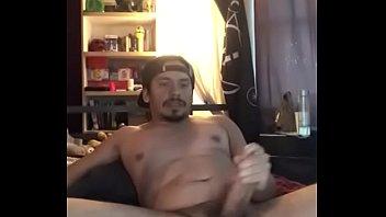 Hot latino jerks off