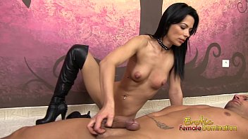 Facesitting spitting domination video Boots domination hand job with dark vixen