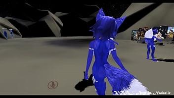 Krystal furry fox dance