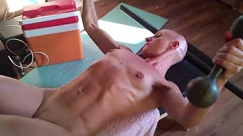 Hairy chest muscle bald straight men - 123