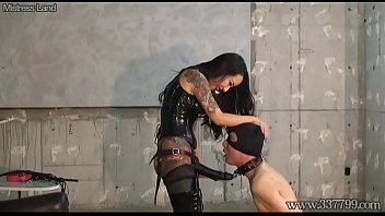 Naked asian boots Cbt boots and dick slapping domina