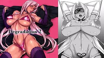 Dark skin hentai - Mydoujinshop - ingrid strips for a room full of random horny men degradation 2 makaihell kishi lilith black hentai comic