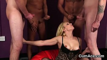 Unusual hottie gets cumshot on her face swallowing all the juice