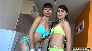 Threesome Ladyboy Babe And Lucky Guy