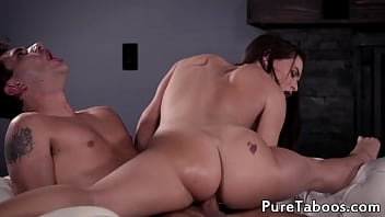 Amazing 19yo babe makes her stepdaddy cum