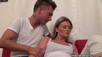 Old woman fucks young blond girl Mommy wants you to cum in her mouth
