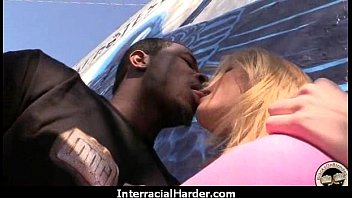 White Girl Spit Roasted By Big Black Cock 3
