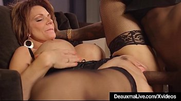 White girls fucking black guys - Hot mature cougar deauxma gets drilled by a big black cock