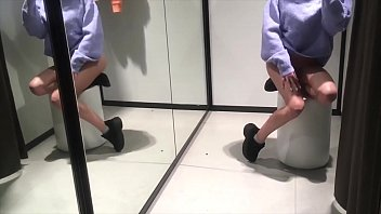Teen public masturbation in Fitting Room