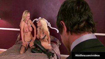 Hot Blonde Babes Nikki Benz & Puma Swede Fuck A Cock In 3Way