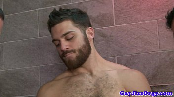 Gay shower hunk - Oral orgy in the shower with hunter page