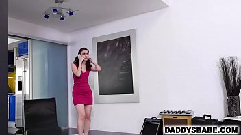 Skinny teen daughter fucks dad for money