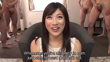 Japanese av fetish Subtitled cfnm japanese gokkun party with miki sunohara