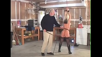 Busty blonde . Whipping and Masturbation .