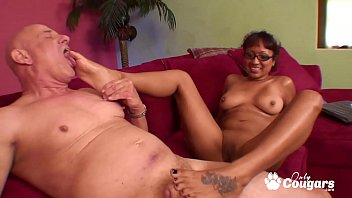 Man sucks boys toes Latin milf jasmen lopez drains some balls