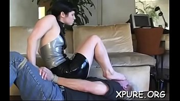 Weak man gets bonded, tortured and smothered by a large beauty thumbnail