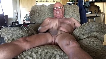 Gay mature male Masturbating