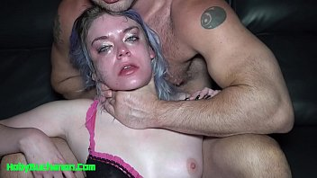 Amateur Slut Aura Moon Roughly Throat Fucked Slapped & Spit On