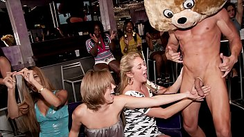 DANCING BEAR - Group Of Horny Women Getting Dicked Down By Male Strippers