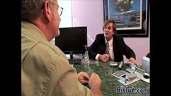 Two naughty secretaries pleasure their boss