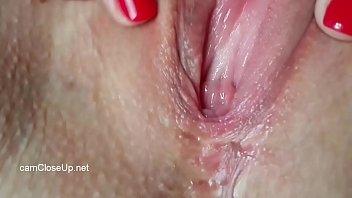 Closeup Beautiful Wet Pussy Get Massaged after Creampie