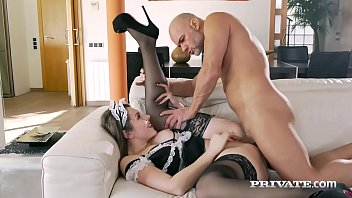 Private.com - Horny Maid Sofia Curly Gets Boss Cum Facial!