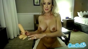 Brandi love naked - Brandi love big tits milf deep throating and fucking dildo.