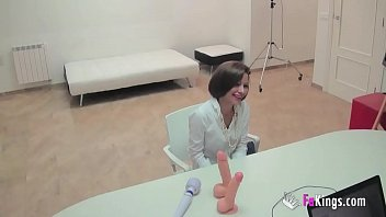 She was looking for a secretary job, but got horny right in the interview thumbnail