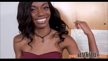 Sexy Petite Black Ebony Teen Casting Chanel Skye Fucked To Orgasm By White Director POV