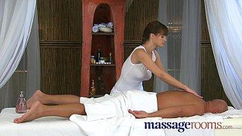 Massage Rooms Rita displays her huge boobs and expert cock handling skills thumbnail