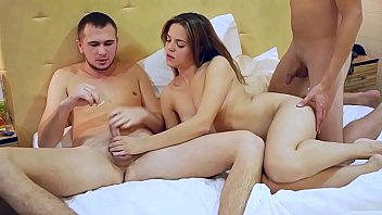 Passionate nympho fucking with friends