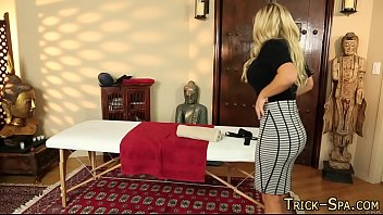 Massaged blonde pounded