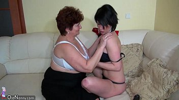 Fat mature lesbian grannies Oldnanny old fat grannies masturbating and enjoying with young girl