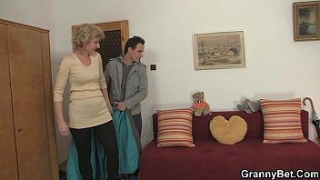 Old grandma tgp Young guy picks up old blonde and fucks her