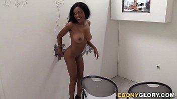 Ebony Anya Ivy Sucks White Cock - Glory Hole