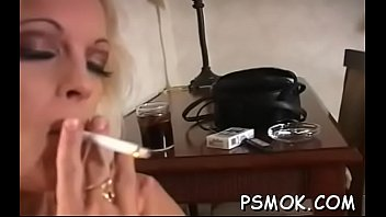Smoking during sex fetish Sexy naked babe provoking during the time that smoking a cigarette