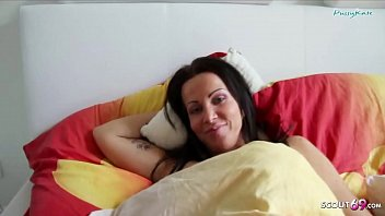 German Son Wake up Step Mom and Seduce her to Fuck