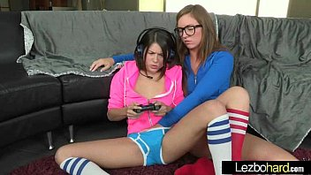 Cute Lovely Lesbos Have Fun On Camera vid-18