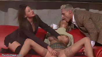 public threesome on stage thumbnail