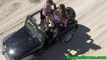 Girl fucking in jeep