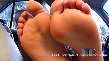 BEST German Feet Worship in Car - watch more on xfetish.net