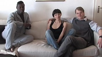 Pia Sofie'_s first black cock while her cuckold is watching