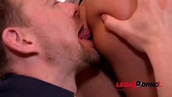 Irresistible blonde leggy Cherry Kiss gets her backdoor fucked balls deep GP291