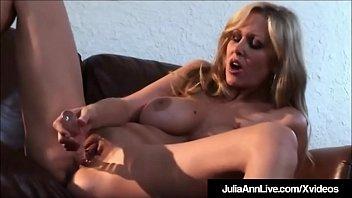 Julia crown masturbation video Horny hot milf julia ann rubs dildo fucks her juicy pussy