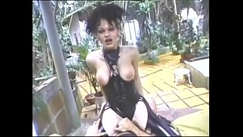 Tranny latex pics Tranny in latex fucked by her slave and takes facial