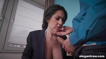 Asian business and reference Business woman swallows while working